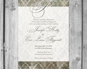 Rustic Elegance Wedding Invitation Set