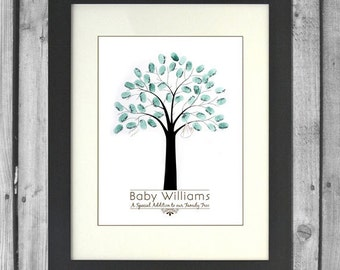 Printable Baby Shower Fingerprint Tree