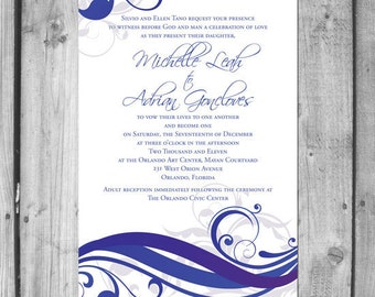 Beautiful Swirls Wedding Invitation Set