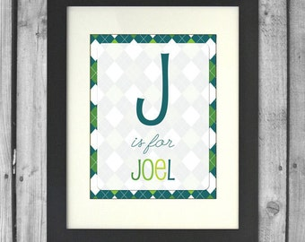 11x14 Customized Name Print