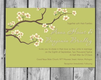 Blossoms on Branches Wedding Invitation Set