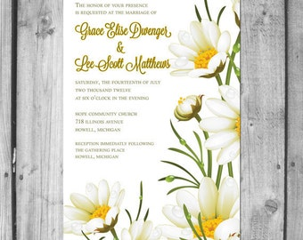Daisy Wedding Invitation Set