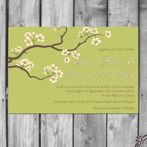 Blossoms on Branches Wedding Invitation Set
