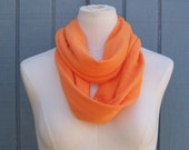 Infinity Scarf SOLE GRANDE All Season Scarf TANGERINE Available in Many Colors