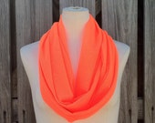 Infinity Scarf NEON TANGERINE Orange in Soft Mesh New Item