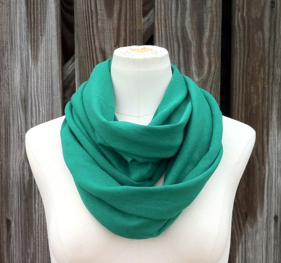 Infinity Scarf The GRANDE Loop Scarf EMERALD GREEN Available in Many Colors