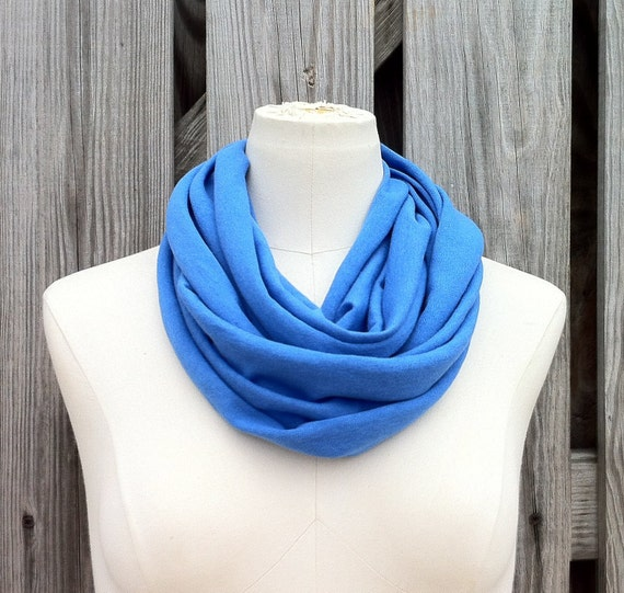 Infinity Scarf The PETITE Loop Scarf in IRIS Blue