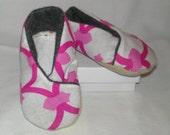Kimono Baby Booties - Abstract Pink