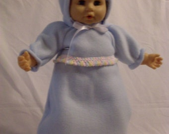"""17""""-18"""" Light Blue Bunting with Hood Set"""