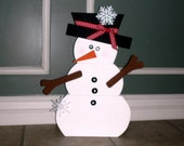 Large standing Snowman - Cute Christmas Decor