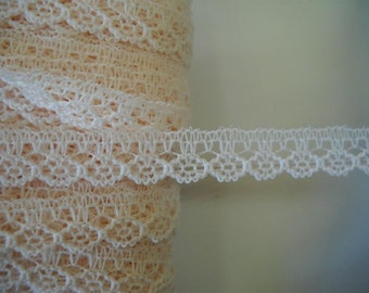 Small wide - 10mm wide  lace trim -10 yards