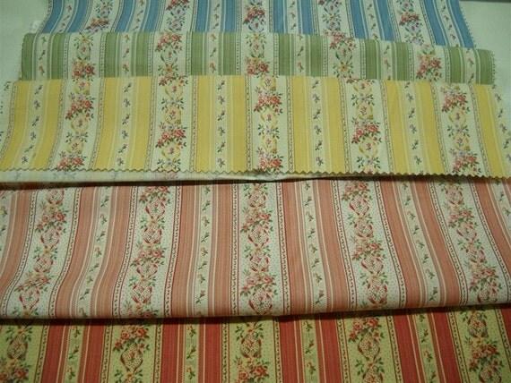 Laura Ashley sample fabric  - 5 pcs -25x25 inch - combed cotton
