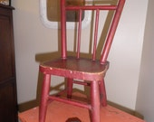 Child's Red Wooden Chair - Sale