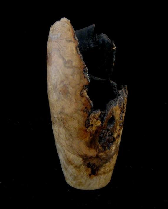 Wood Vase of Oak Burl