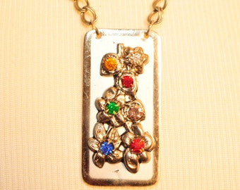 Handmade Vintage Colorful Rhinestone Necklace