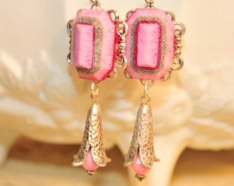 Retro Pink Vintage Earrings