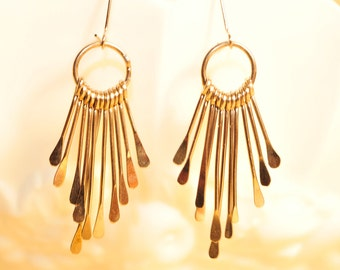 Handmade Vintage Silver Dangle Earrings