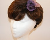 Small Purple Delight Flower Hair Clip