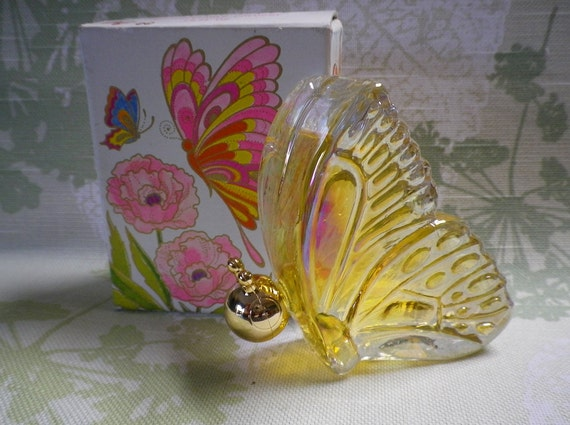 MIB Vintage  Avon Groovy Psychedelic Butterfly Unforgettable Cologne