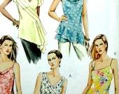 Vogue Sewing Pattern - Tunika Top, asymmetrisch - Vogue 7878 UNCUT Größe 6, 8, 10