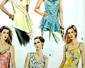 Vogue Sewing Pattern - Tunic Top, Asymmetrical - Vogue 7878 UNCUT Size 6, 8, 10