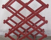 Reserved for Amy.......Vintage Wine Rack Red