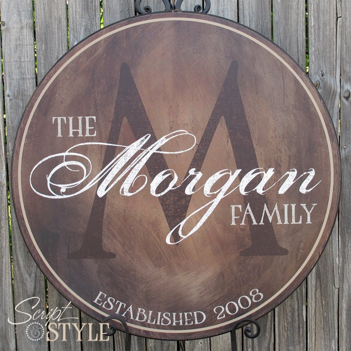 Personalized Family Name Wood Sign Family Established Sign
