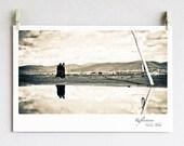 Tibet Photography / 5x7 (13x19 cm) / Sepia photo /  Monk / Fine Art / Artwork /  Reflections