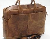 men's cowhide leather leather business shoulder bag