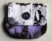 coupon code sale Coin purse tie dyed black, purple and white