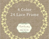 24 Lace Circle  Frame - Personal Or Small Commercial Use (PS005)