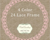 24 Lace Circle Frame - Personal Or Small Commercial Use (PS006)