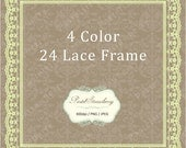 24 Lace Square Frame - Personal Or Small Commercial Use (PS007)