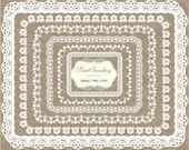 12 White Lace Oval & rectangle Frames - Personal Or Small Commercial Use (PS009)