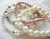 SALE - It Was 39.90 Now 29.90  -  Pearl Bracelet Set - Valentines Gift Idea