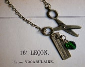 French quote necklace