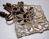 Antique french lace applique - 1800s