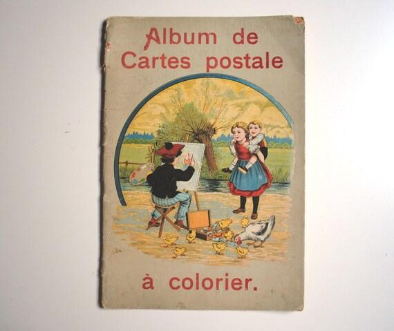Vintage French Postcards Book - rare vintage french postcard album