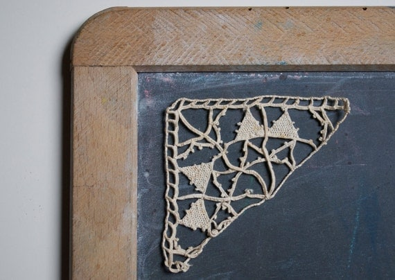 Antique french lace - set of 2 appliques
