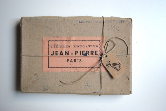 Vintage french rubber stamps with original box