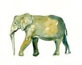 ELEPHANT 7x5inch Print-Art Print-animal Watercolor Print-Giclee Print-Nursery decor-Playroom Decor-Nursery wall art-savannah art
