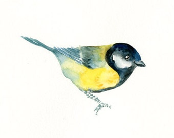 GREAT TIT by DIMDImini ACEO print