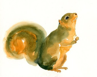 SQUIRREL by DIMDImini  ACEO print