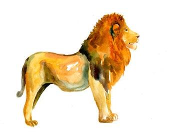LION by DIMDImini ACEO print