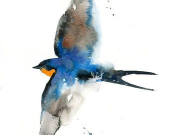 SWALLOW-Print 8x10inch-home decor-poster-nature art-bird art-animal art