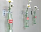 4 Coca-Cola Bottle Hanging Vases - Wall Decor -  Retro Decor - Special Listing