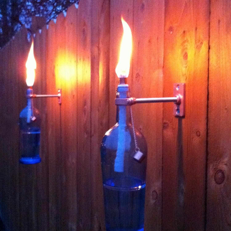 outdoor torch lighting. special lisintg 2 blue wine bottle tiki torches outdoor lighting hanging lantern hurricane lamp torch