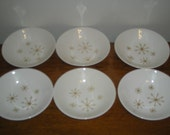 Vintage Royal China Star Glow Dessert Bowls