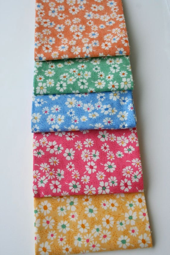 Timeless Treasures 1930s Floral collection by Karen Snyder Cotton Fabric, Fat Quarter Set