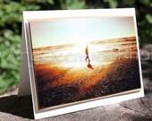 A Walk on the Beach Blank Photo Card
